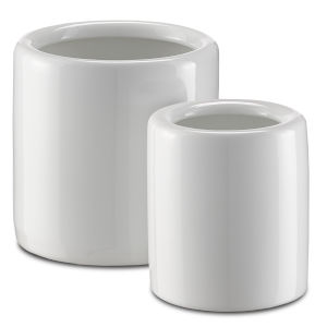 Imperial White Jar, Set of 2