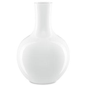 Imperial White Large Gourd Vase