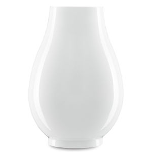 Imperial White Round Vase
