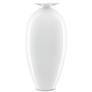 Imperial White Tall Vase