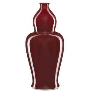 Oxblood Large Elongated Double Gourd Vase