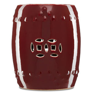 Oxblood Garden Stool