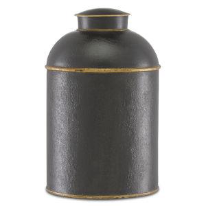 London Black and Gold Medium Tea Box