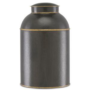 London Black and Gold Large Tea Box