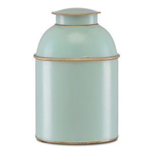 London Pale Blue and Gold Small Tea Box