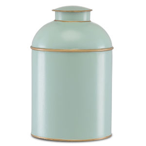 London Pale Blue and Gold Medium Tea Box