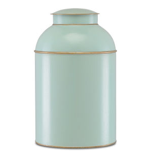 London Pale Blue and Gold Large Tea Box