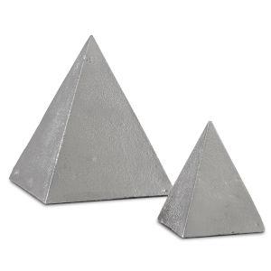 Mandir Black Nickel Pyramid, Set of 2