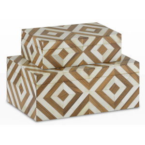 Persian Natural and White Box, Set of 2