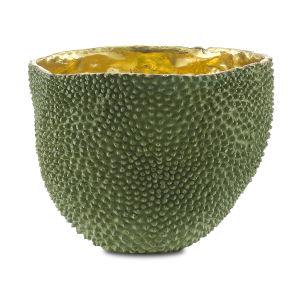 Green and Gold Large Jackfruit Vase