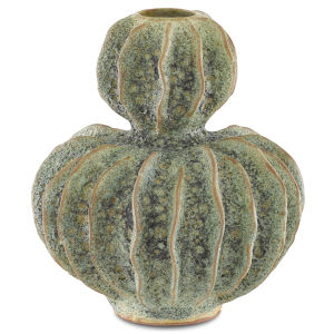 Sunken Moss Green Double Gourd Vase