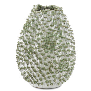 Milione White and Green Small Vase