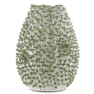 Milione White and Green Medium Vase
