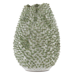 Milione White and Green Large Vase