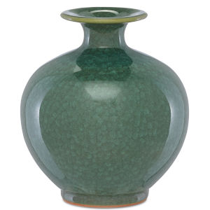 Kara Crystalized Green Small Crystalized Vase
