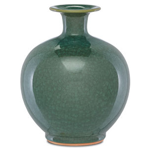 Kara Crystalized Green Large Crystalized Vase