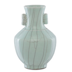 Maiping Celadon Crackle Large Ear Vase