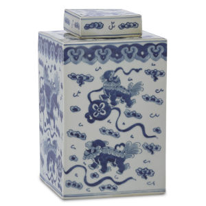 Ming Blue and White Small Lidded Jar