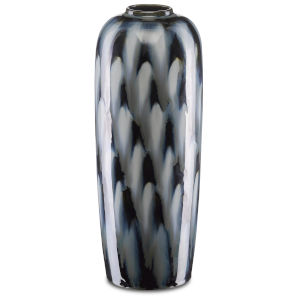 Minten Indigo and Gray Cloud Large Vase