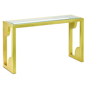 Brass 30-Inch Table with Mirror Top