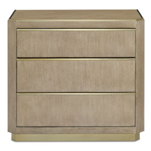 Bali Light Wheat and Brushed Brass Chest