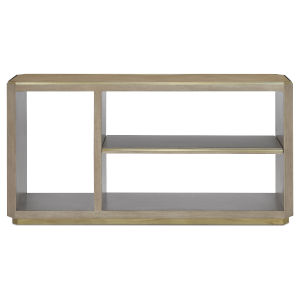 Bali Light Wheat and Brushed Brass Console Table