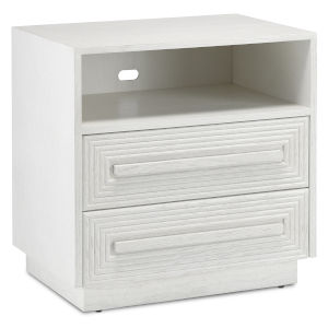 Morombe Cerused White Nightstand