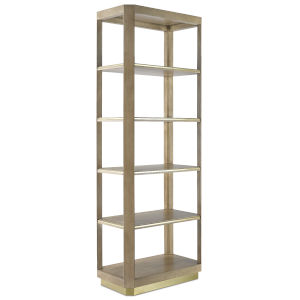 Bali Light Wheat and Brushed Brass Etagere