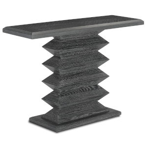 Sayan Cerused Black Console Table