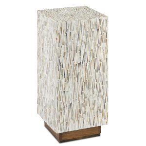 Aquila White and Pecan Accent Table
