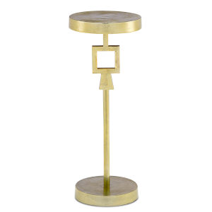 Willim Shiny Gold Drinks Table