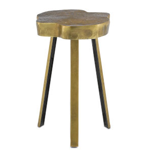 Mambo Antique Brass Accent Table
