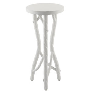 Acero Gesso White Drinks Table