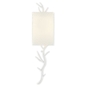 Baneberry Gesso White One-Light Wall Sconce, Left