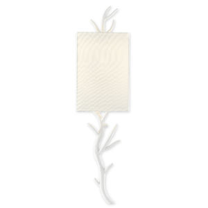 Baneberry Gesso White One-Light Wall Sconce, Right