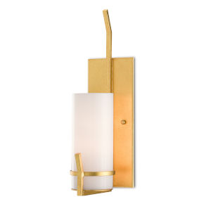 Kempis Contemporary Gold One-Light Wall Sconce