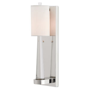 Junia Polished Nickel One-Light Wall Sconce