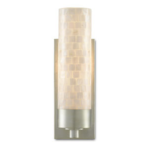 Abadan Pearl and Silver One-Light Wall Sconce