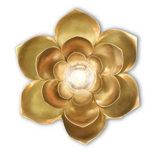 Blossom Satin Brass One-Light Wall Sconce