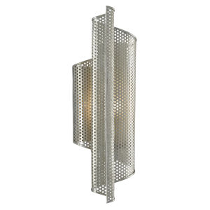 Penfold Contemporary Silver One-Light Left Wall Sconce