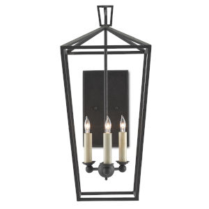 Denison Mole Black Three-Light Wall Sconce