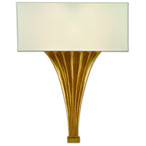 Brinnin Gold Leaf One-Light ADA Wall Sconce