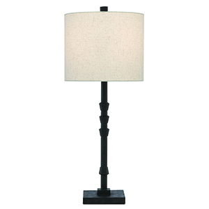 Lohn Mole Black One-Light Table Lamp