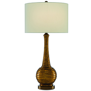 Madailin Aged Gold Leaf and Antique Brass One-Light Table Lamp