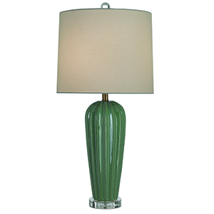 Ginevra Olive and Clear One-Light Table Lamp