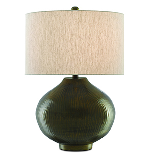 Sidieg Dark Brass Antique One-Light Table Lamp