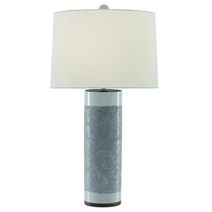 Westmoore White and Silver Leaf One-Light Table Lamp