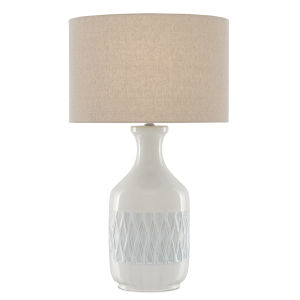 Samba White and Sky Blue One-Light Table Lamp