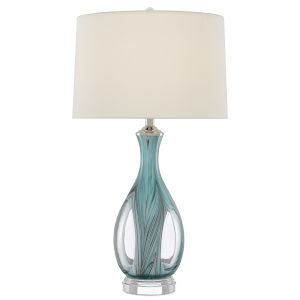Eudoxia Blue One-Light Table Lamp