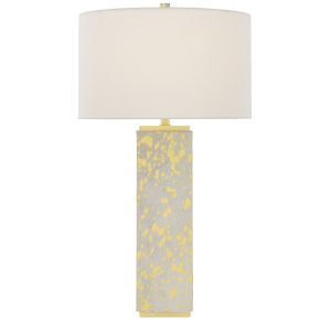 Sundew Gold and Brushed Brass One-Light Table Lamp